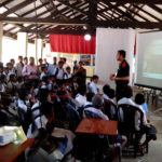 Online safety awareness for children by Sri Lanka CERT|CC  at Asia-Pacific Scout Jamboree 9
