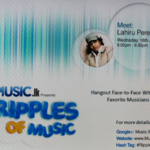 Ripples of Music with Google Hangout Air 1